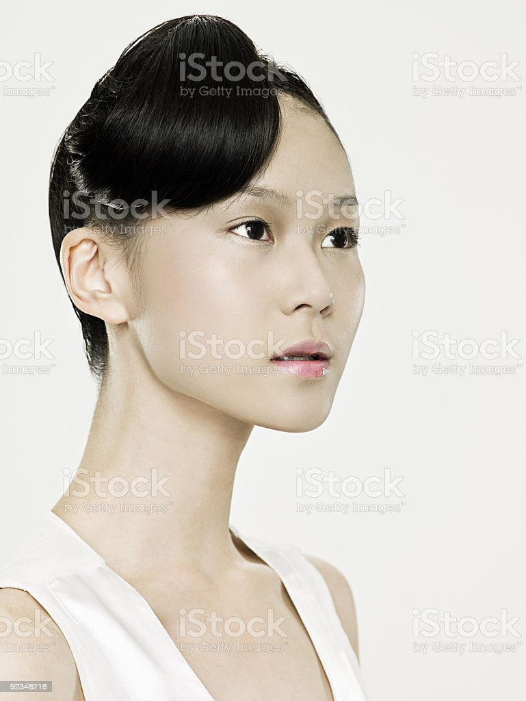 Beautiful young asian woman royalty-free stock photo