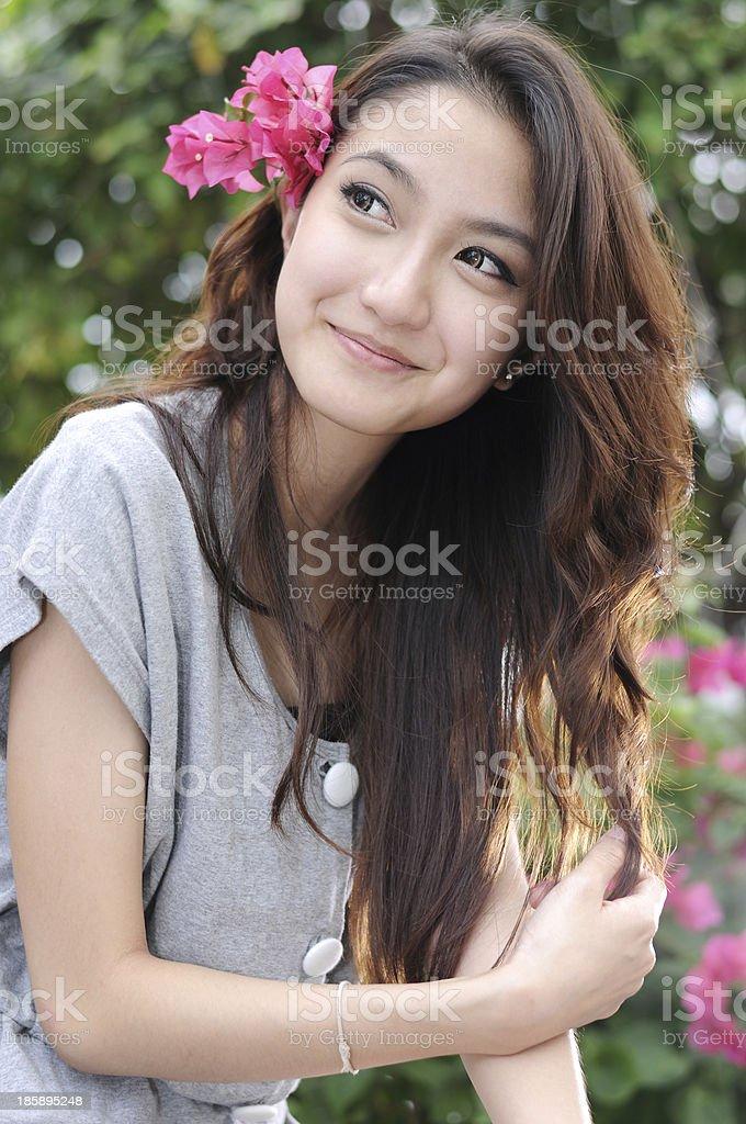 Beautiful Young Asian Woman,Portrait. stock photo