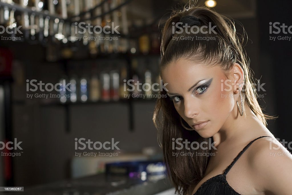 Beautiful young bartender royalty-free stock photo