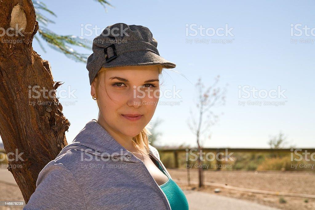 Beautiful young Blond stock photo