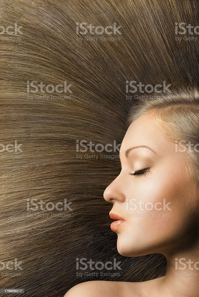 beautiful young blond woman in profile royalty-free stock photo