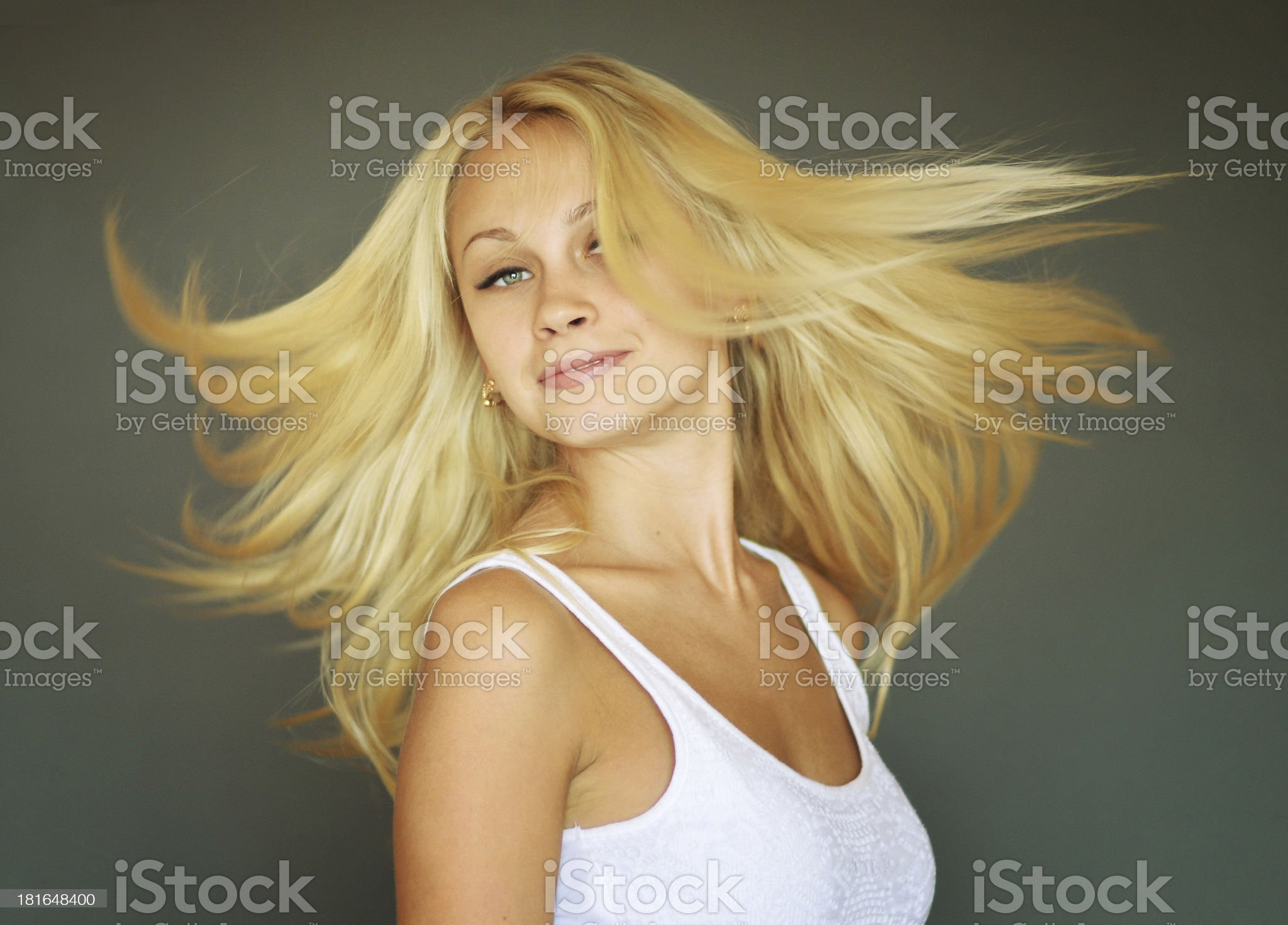 A beautiful young blonde woman royalty-free stock photo