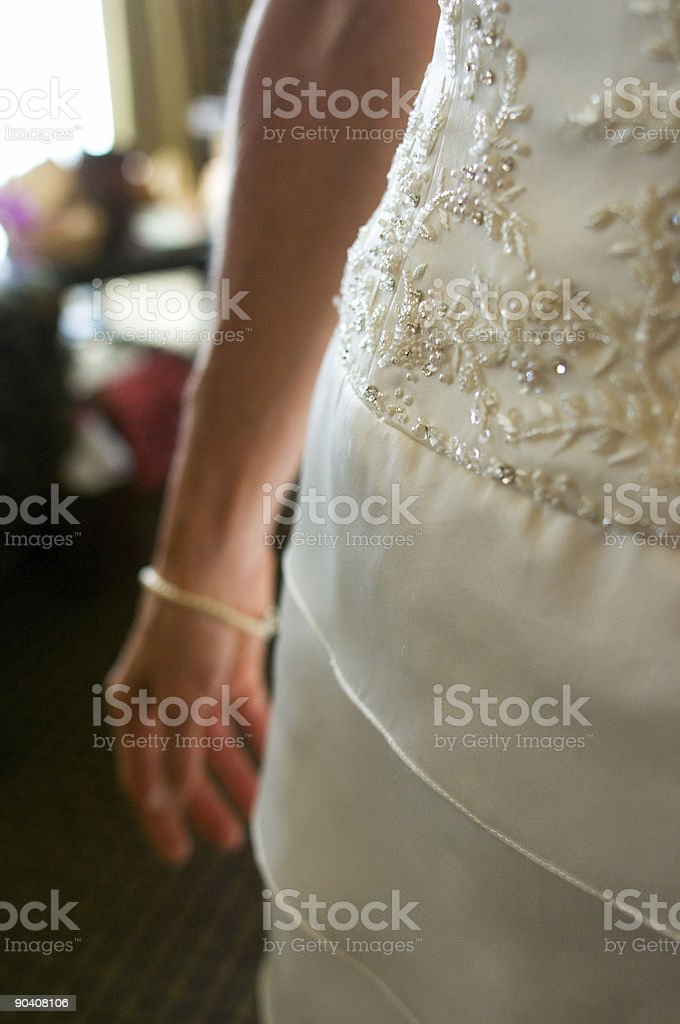 Beautiful Young Bride in Window Light royalty-free stock photo