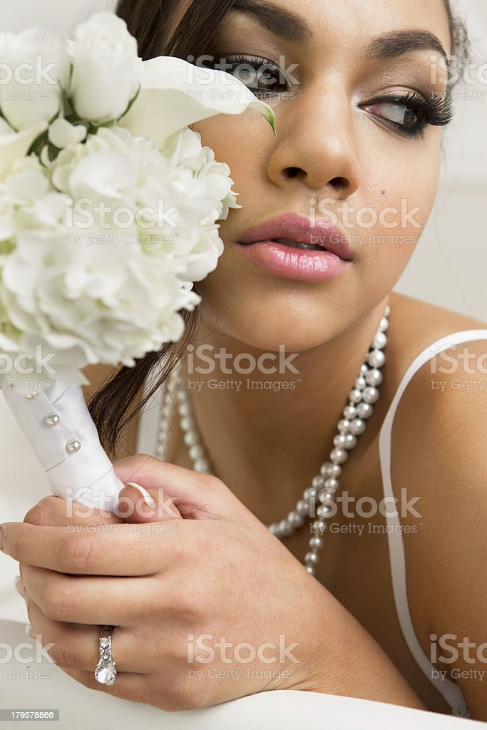 Beautiful young bride royalty-free stock photo