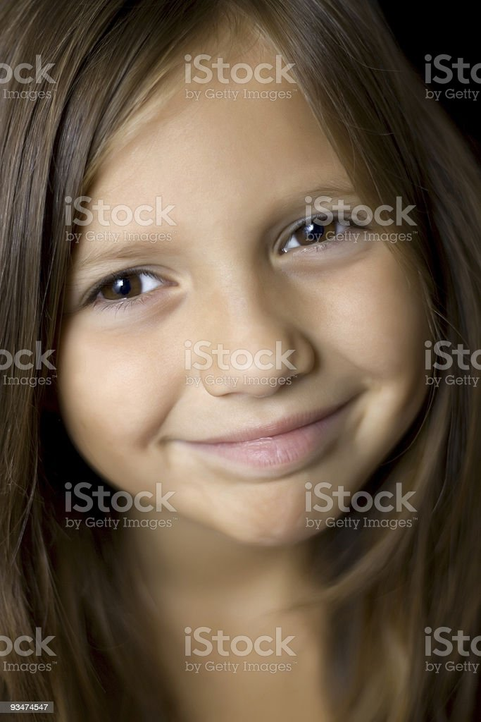 Beautiful young brunette girl royalty-free stock photo