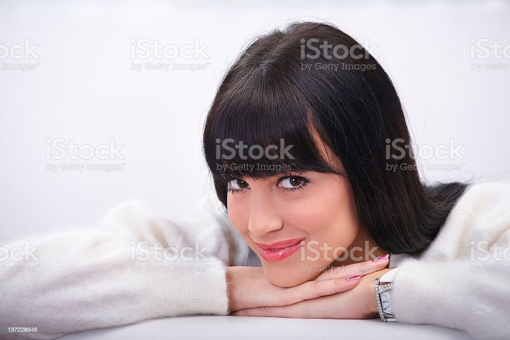 Beautiful young brunette royalty-free stock photo