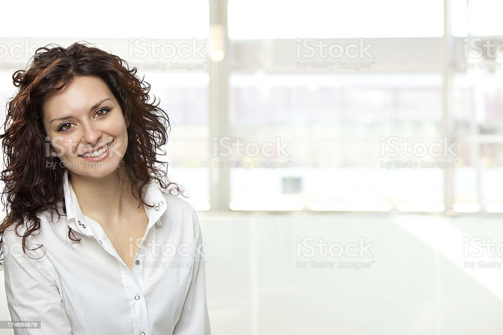 beautiful young buinesswoman portrait at office royalty-free stock photo