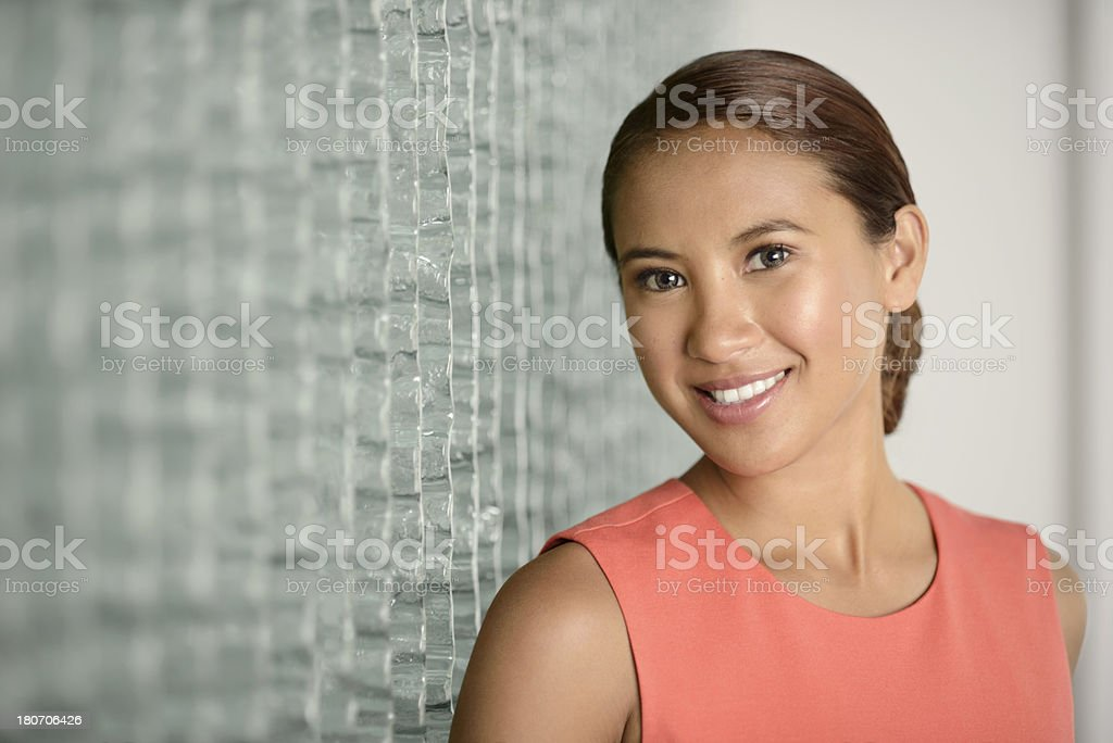 Beautiful young business woman stock photo