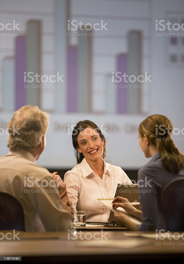 Beautiful Young Businesswoman royalty-free stock photo