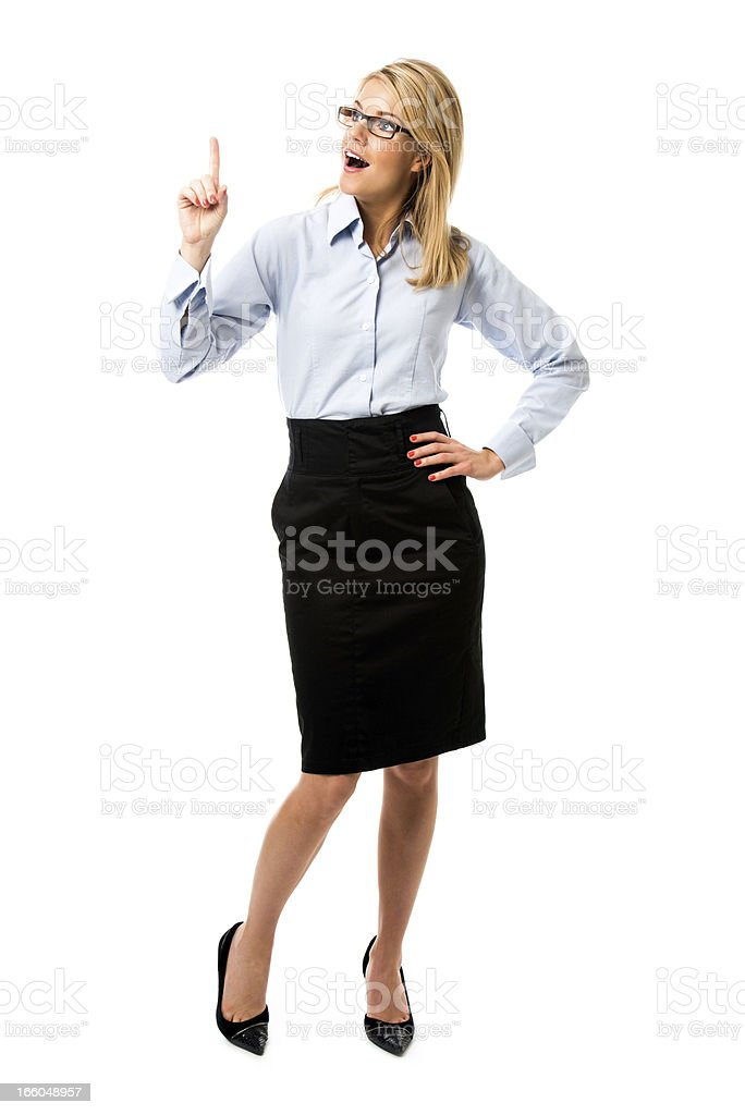 Beautiful young businesswoman. royalty-free stock photo