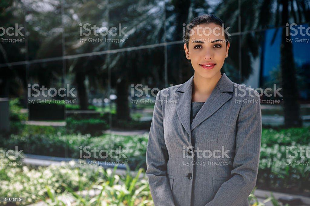 Beautiful young businesswoman portrait stock photo