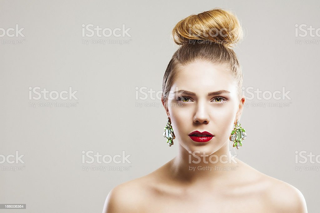 Beautiful young chic woman royalty-free stock photo