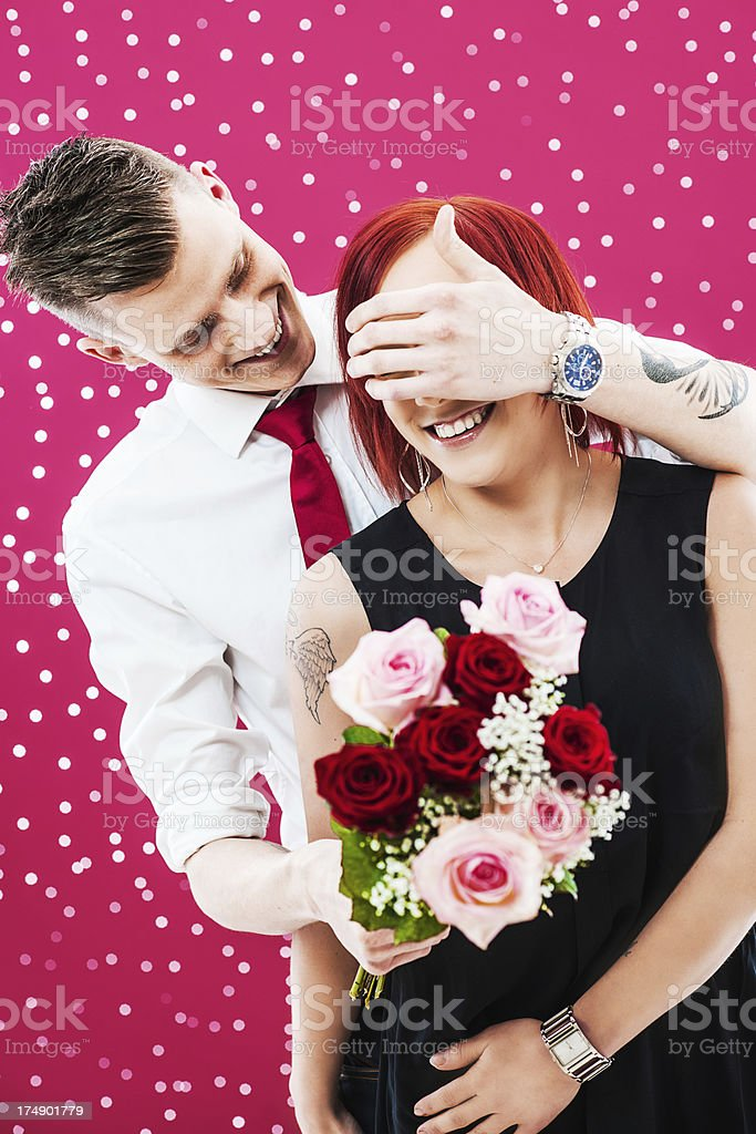 Beautiful young couple in love royalty-free stock photo