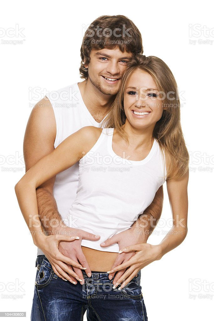 Beautiful young couple royalty-free stock photo