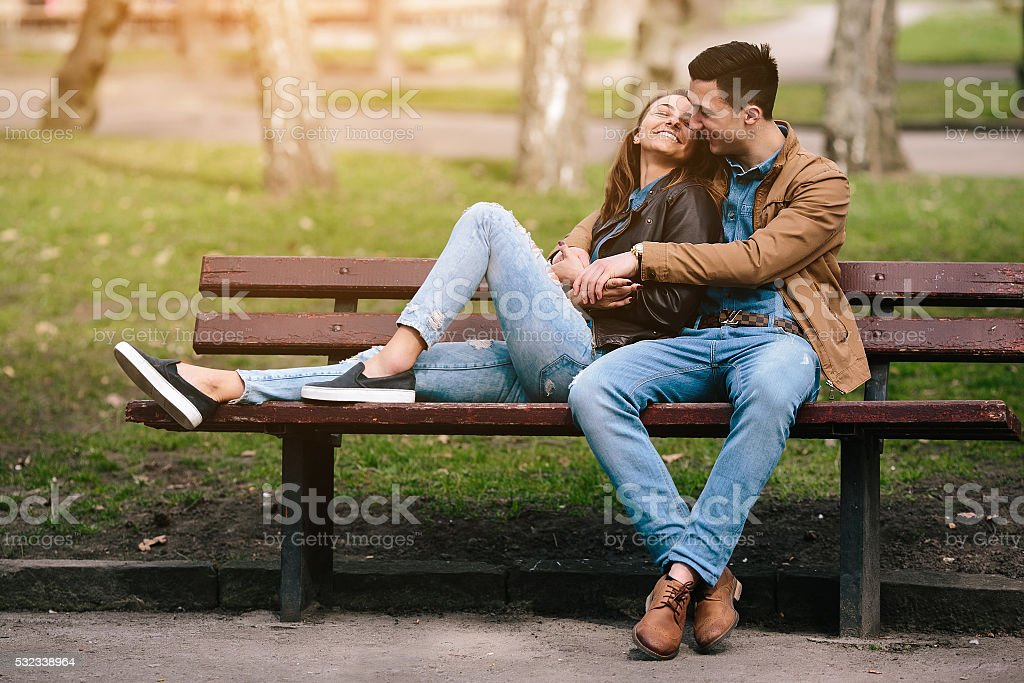 beautiful young couple stock photo