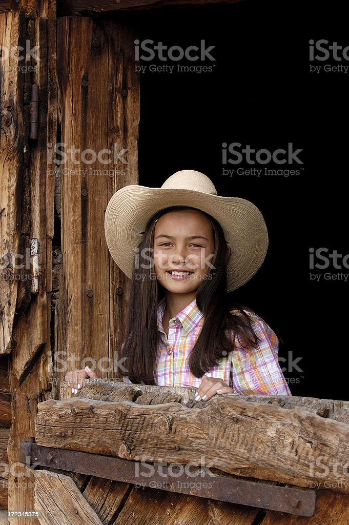 Beautiful Young Cowgirl stock photo