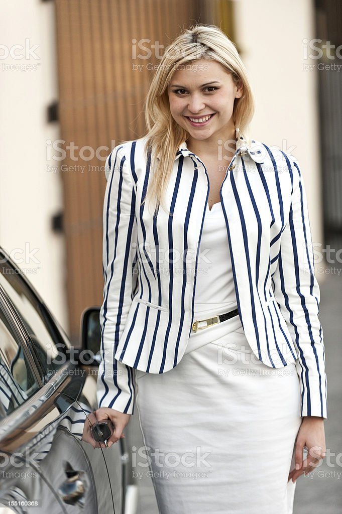 Beautiful young executive stock photo