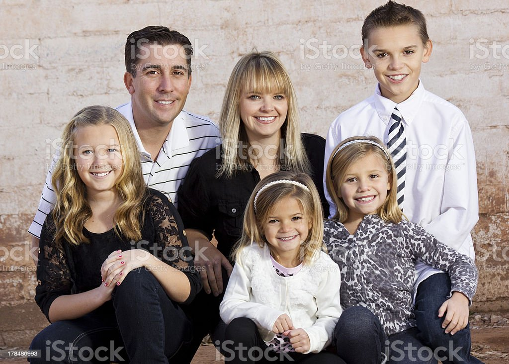 Beautiful Young Family royalty-free stock photo