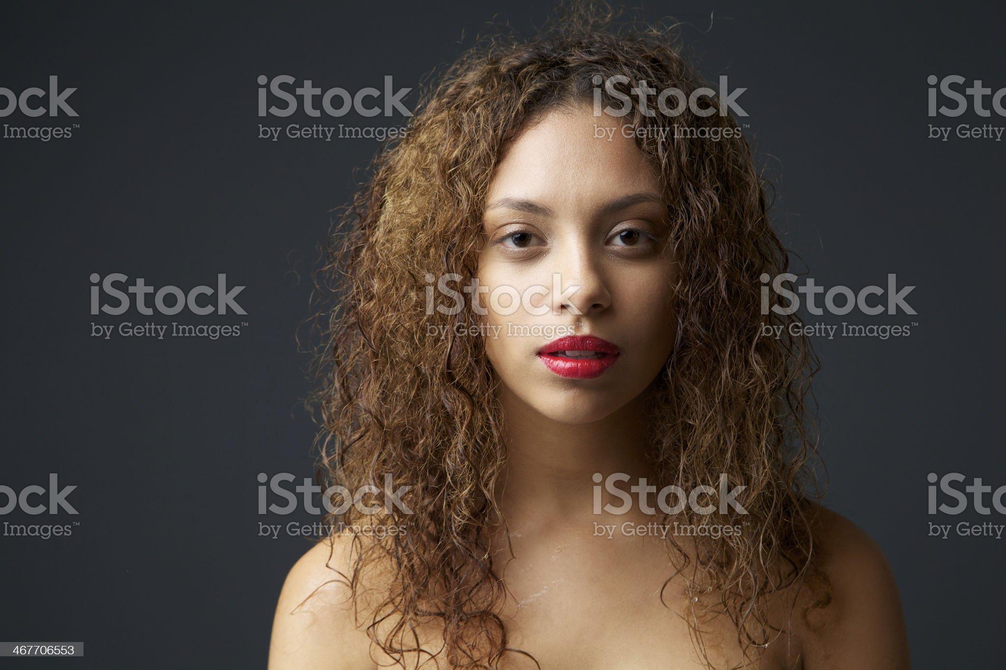 Beautiful young female fashion model royalty-free stock photo