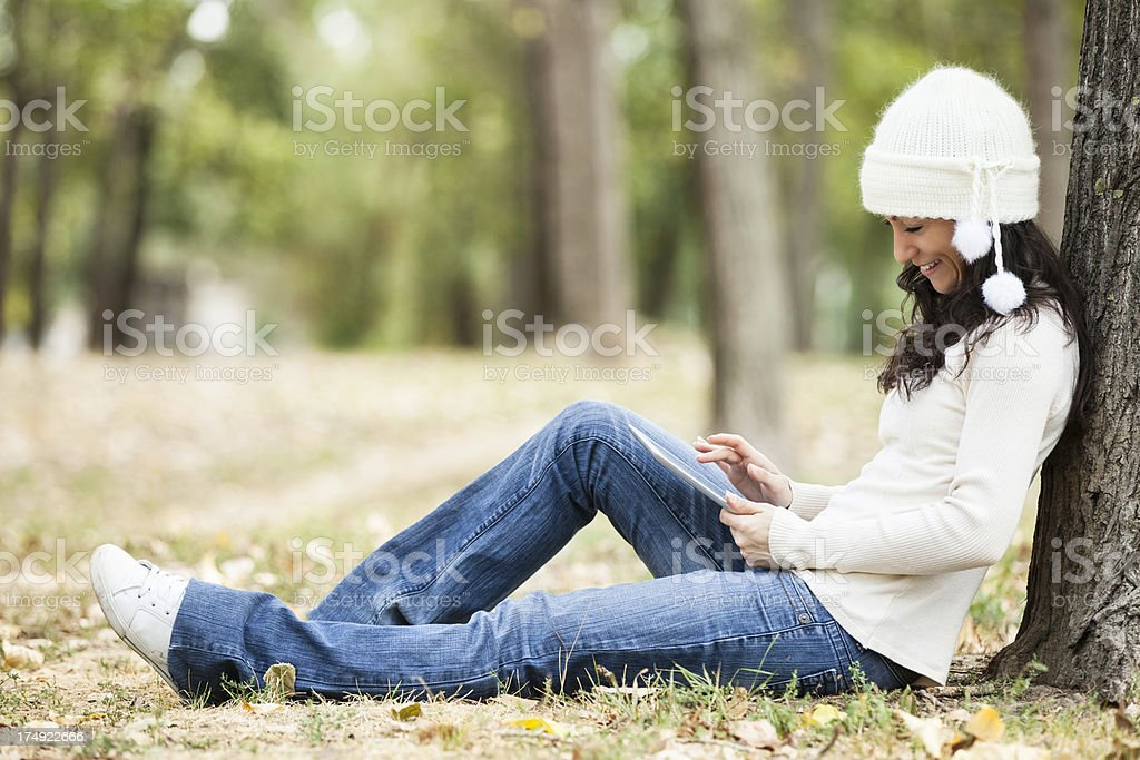 Beautiful young female smiling royalty-free stock photo