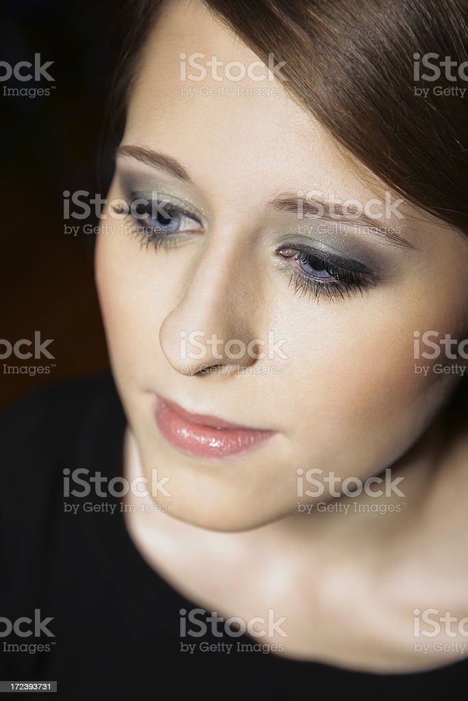 beautiful young girl make-up portrait royalty-free stock photo