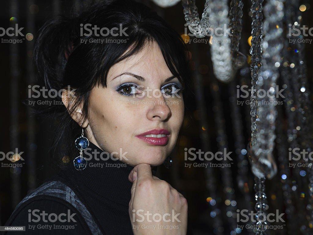 Beautiful young girl stock photo