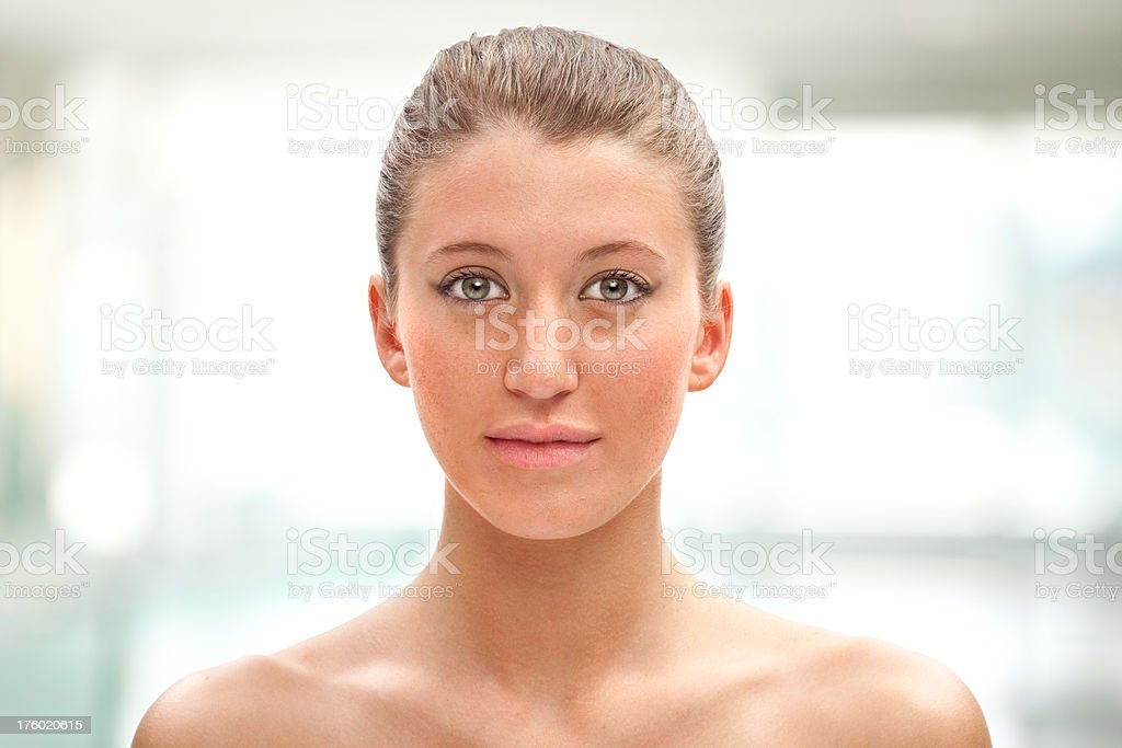 beautiful young girl wellness healtcare portrait at spa royalty-free stock photo