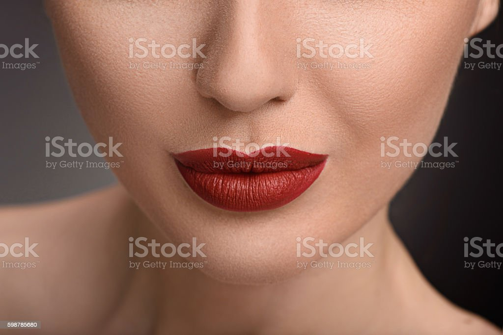 Beautiful young girl with wonderful make-up stock photo