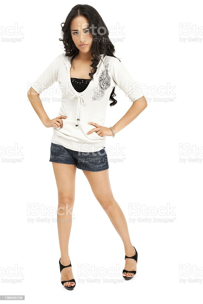 Beautiful Young Hispanic Woman royalty-free stock photo