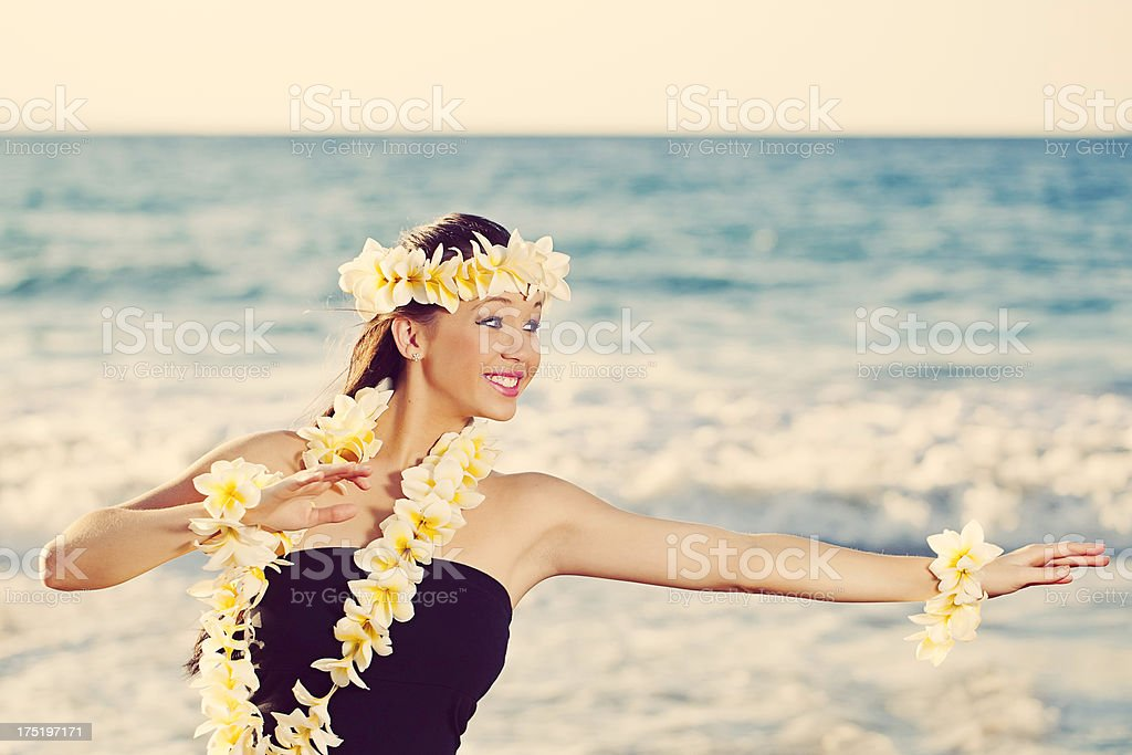 Beautiful Young Hula Dancer royalty-free stock photo