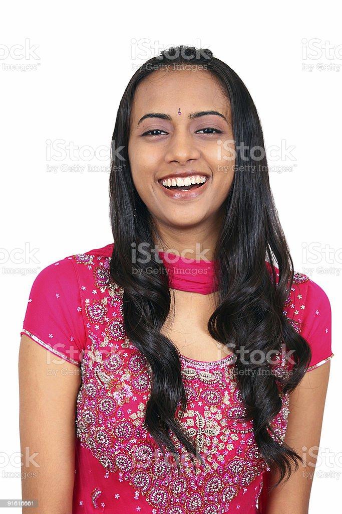 Beautiful young Indian girl. stock photo