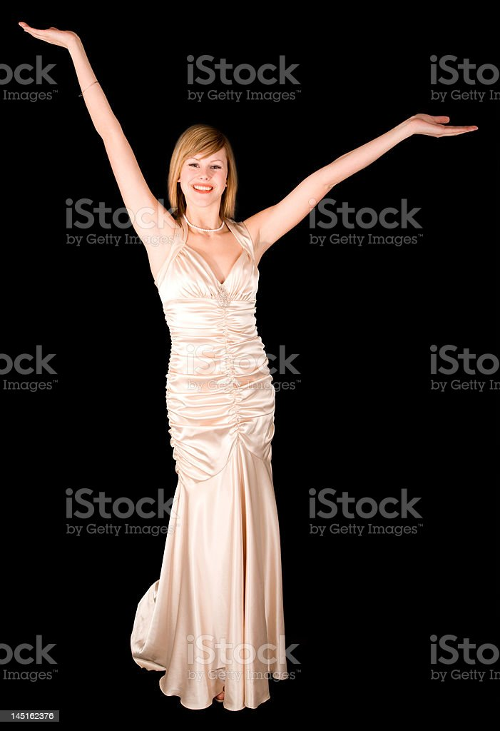 Beautiful Young Lady in an Evening Gown royalty-free stock photo