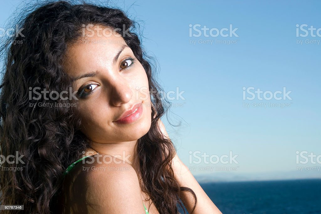 Beautiful young lady smiling royalty-free stock photo