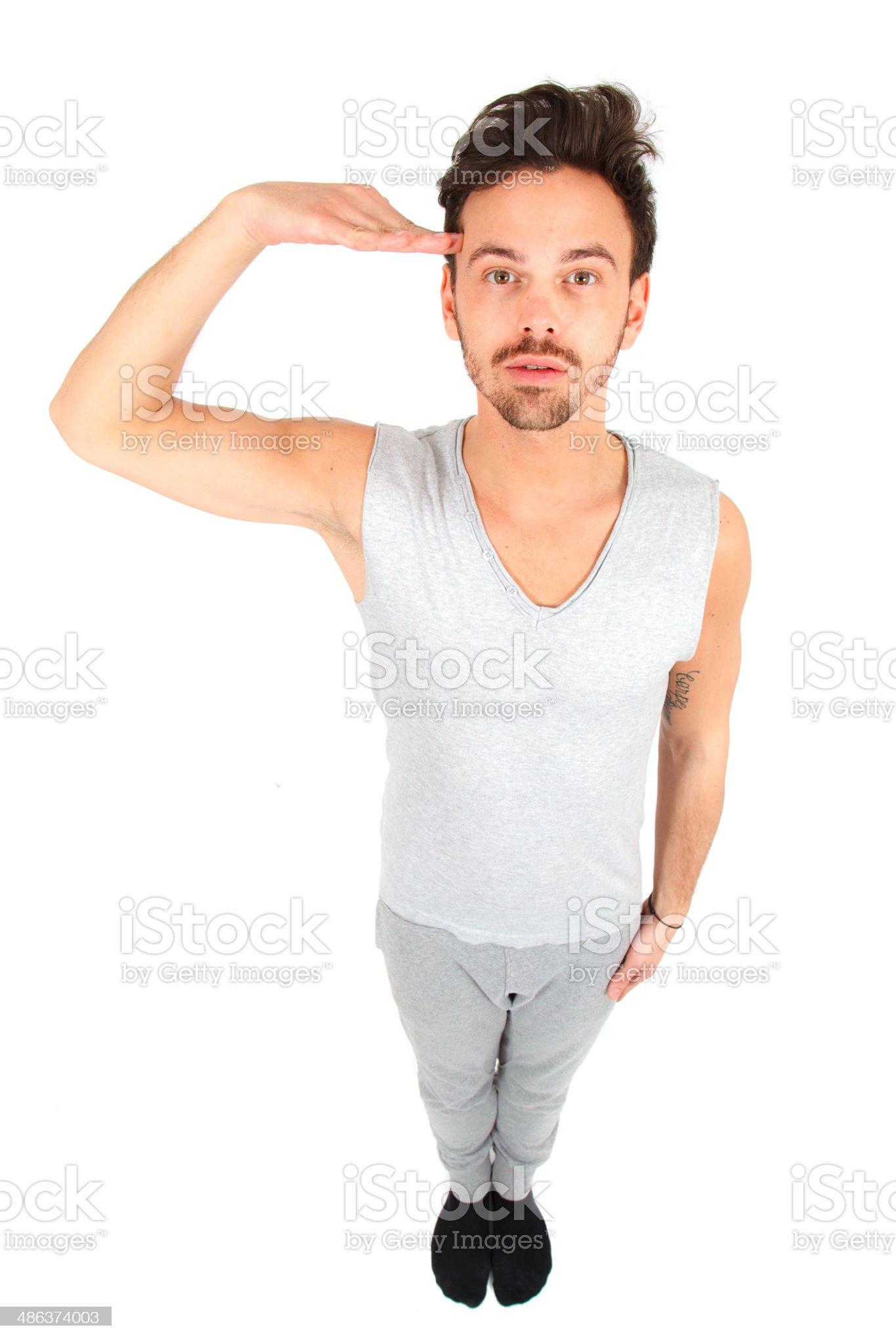 Beautiful young man posing royalty-free stock photo