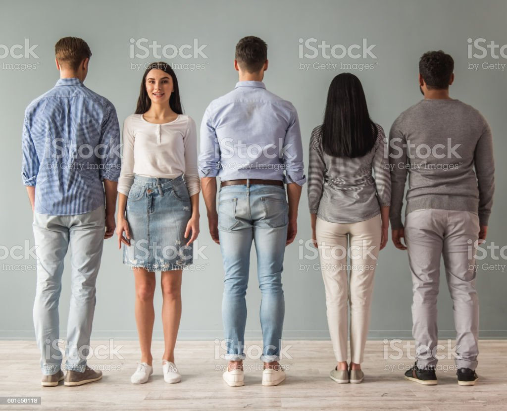 Beautiful young people stock photo