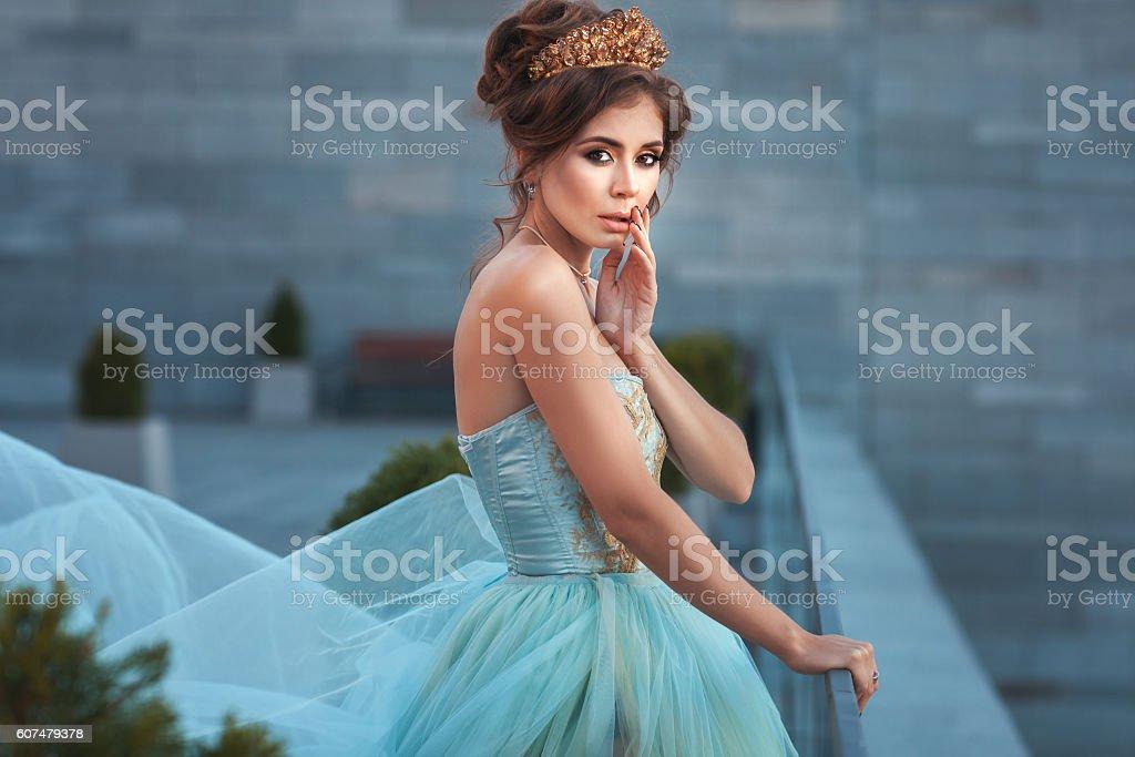 Beautiful young queen. stock photo