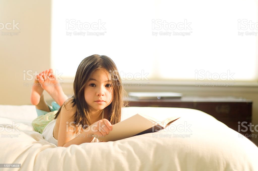 Beautiful Young Reader royalty-free stock photo