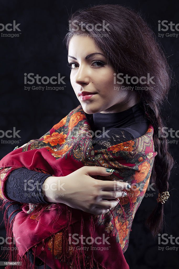 Beautiful young russian royalty-free stock photo