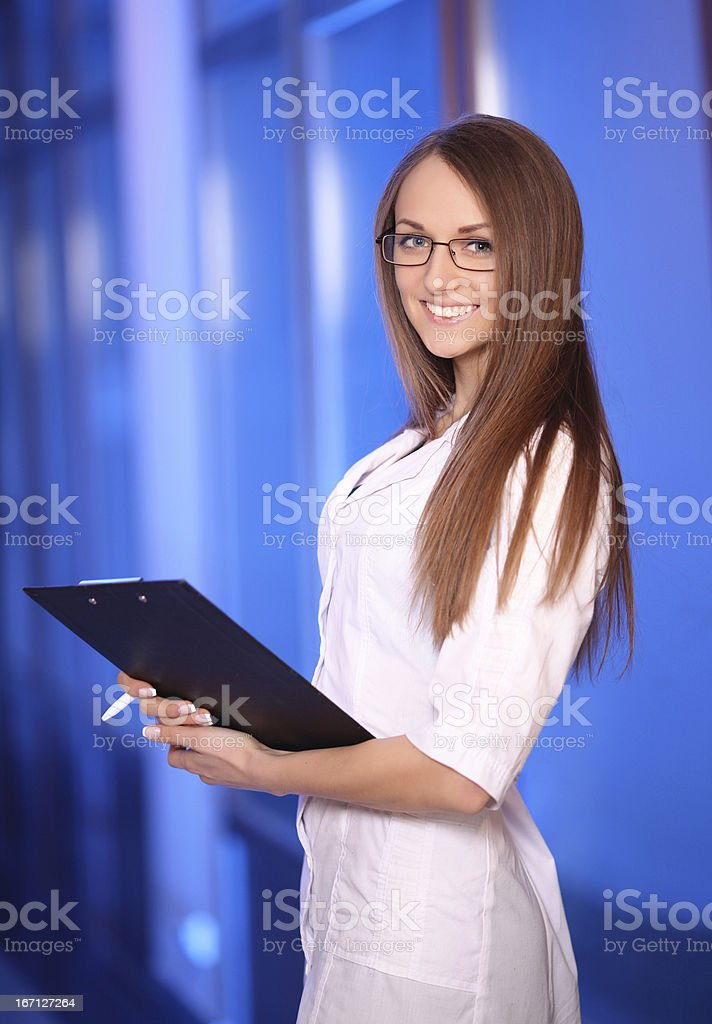 Beautiful young smiling nurse royalty-free stock photo