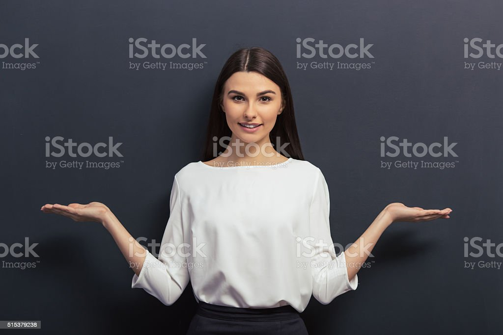 Beautiful young student stock photo