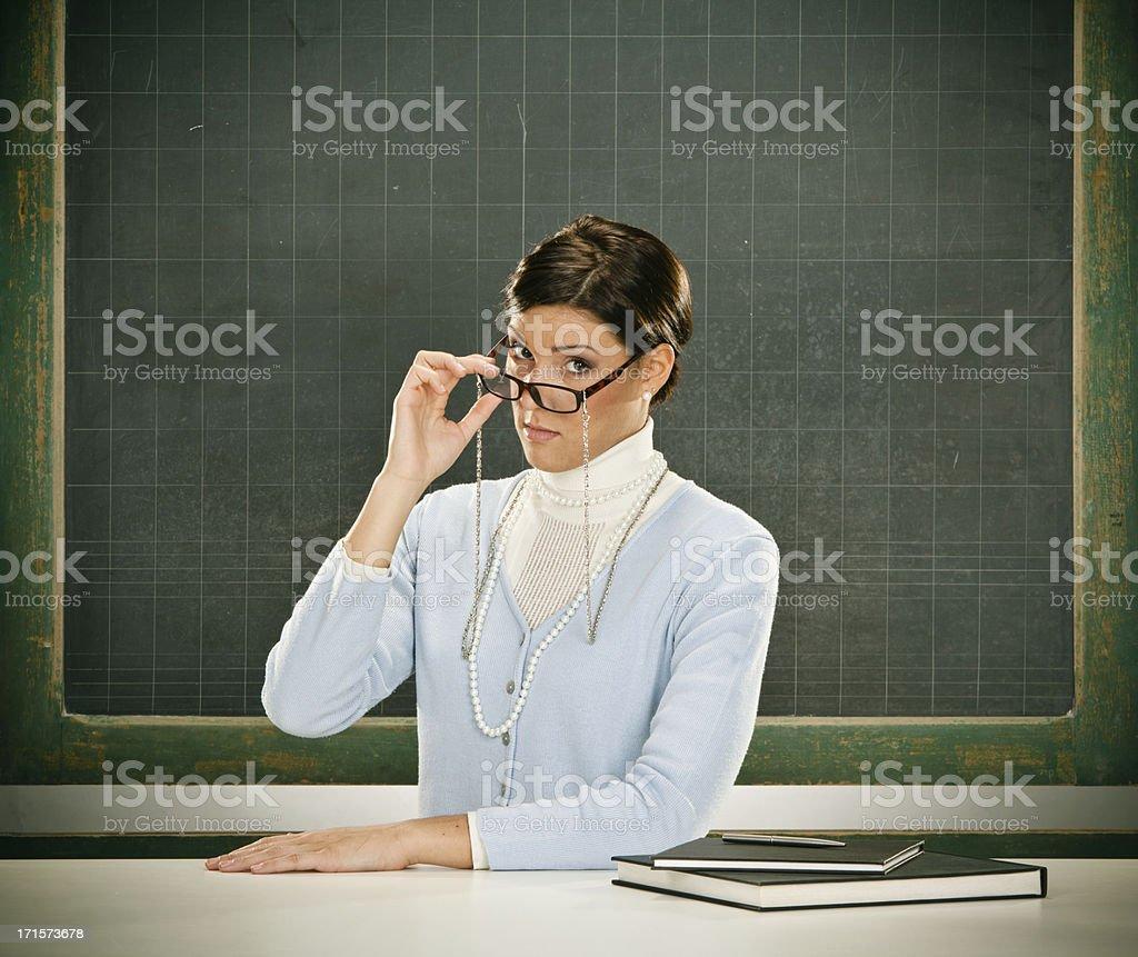 Beautiful young teacher stock photo