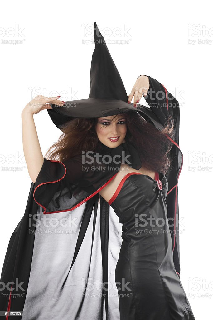Beautiful young witch for Halloween royalty-free stock photo