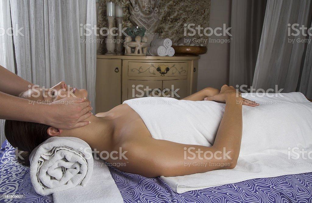 Beautiful young woman at a spa salon royalty-free stock photo