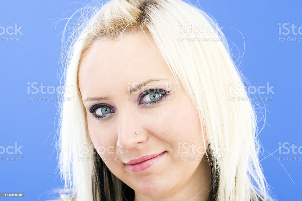 Beautiful Young woman - catch light on her eyes royalty-free stock photo