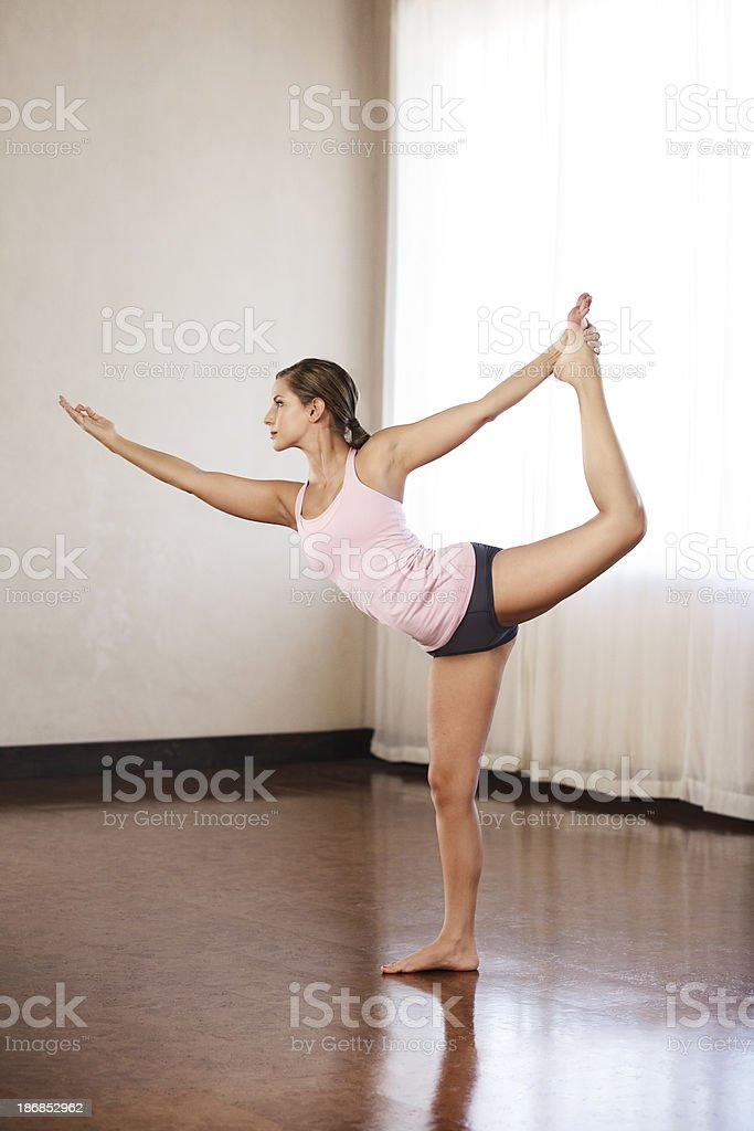 Beautiful young woman doing yoga royalty-free stock photo