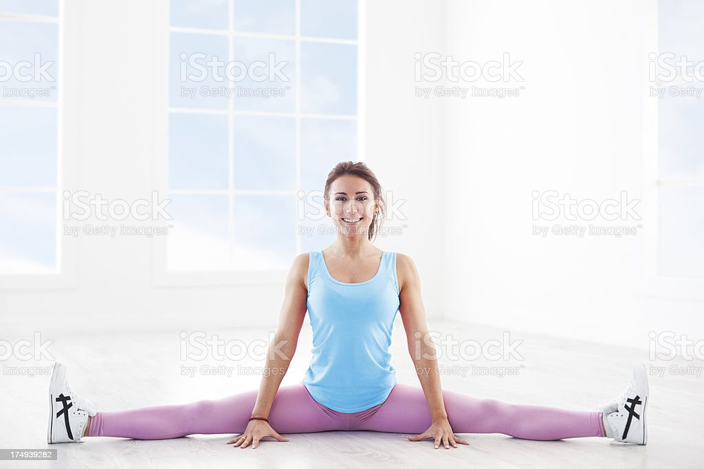 Beautiful Young Woman Exercising stock photo