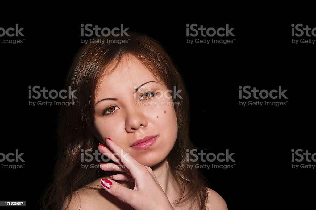 Beautiful young woman face royalty-free stock photo