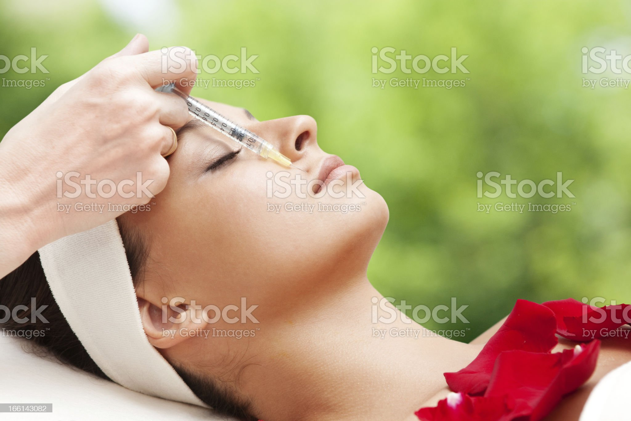 Beautiful Young Woman Having Rejuvenating Injection royalty-free stock photo