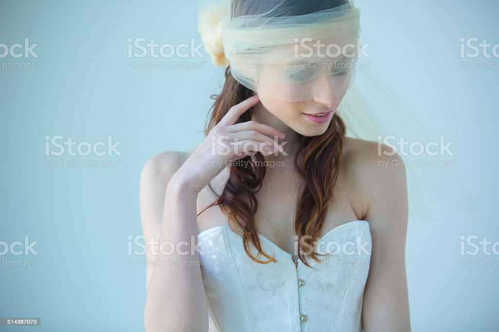 Beautiful Young Woman in Tulle stock photo