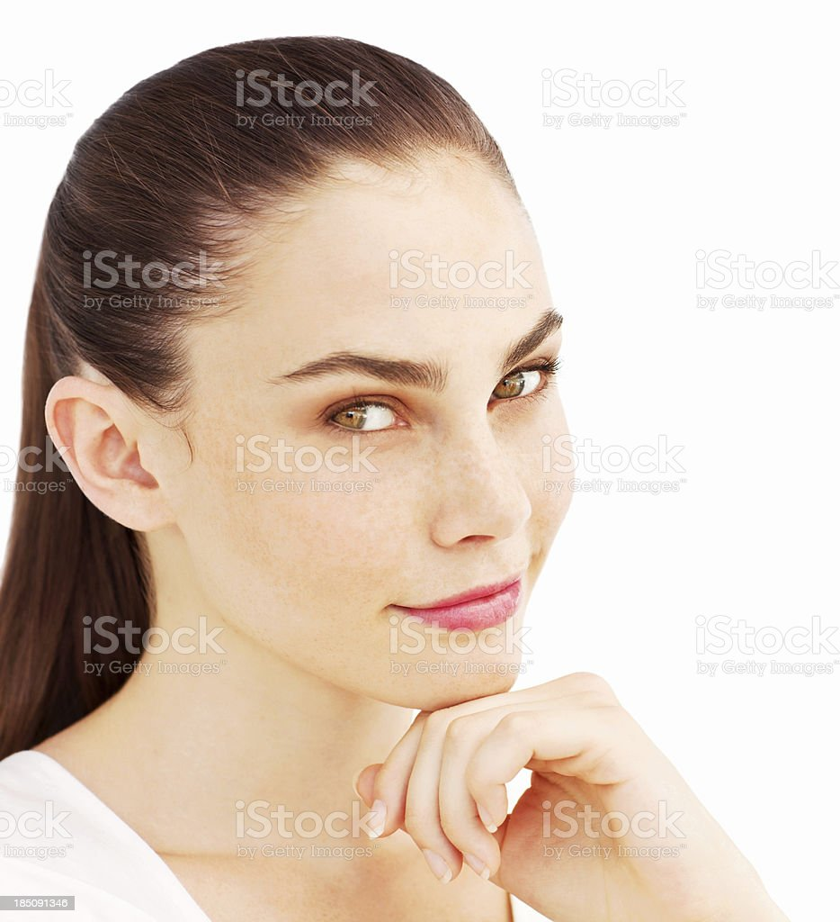 Beautiful Young Woman - Isolated stock photo